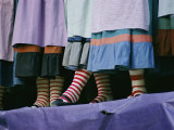 A View of People Wearing Striped Stockings Photographic Print by Joe Scherschel