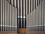 Three Rows of Organ Pipes Fotografisk tryk af Kenneth Garrett