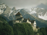 View of the Restored Vaduz Castle Fotografisk tryk af Walter Meayers Edwards