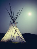 Illuminated Teepee Photographic Print by Sam Kittner