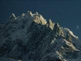 Mont Blanc at Evening with Ridgeline Seen against Sky Impressão fotográfica por George F. Mobley