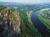 Aerial View, Sachsische Schweiz National Park, Germany Impressão fotográfica por Norbert Rosing