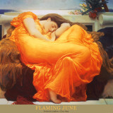 Juni i flammer, ca. 1895|Flaming June, c.1895 Plakater av Frederick Leighton
