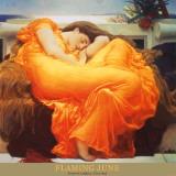燃え立つ6月|Flaming June, 1895 ポスター : フレデリック・レイトン