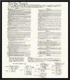 合衆国憲法 額入りキャンバスプリント