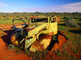 Abandoned Car on Salt Bush Plains Silverton, New South Wales, Australia Photographic Print by Barnett Ross
