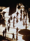 Tai Chi Chuan Shadow Boxing in Early Morning at Causeway Bay, Hong Kong, China Photographic Print by Lawrence Worcester