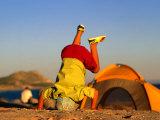 Boy Playing on Beach, Baja, Mexico Photographic Print by Philip & Karen Smith