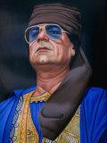 Painting of Libyan Leader Colonel Muammar Al-Gaddafi, Tripoli, Tarabulus, Libya Photographic Print by Doug McKinlay