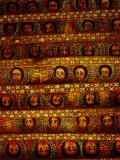 Pattern of Painted Faces on Ceiling of Debre Birhan Selassie Church, Gondar, Ethiopia Photographic Print by David Wall