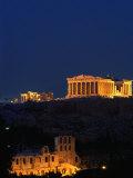 Parthénon et Acropole vus de la colline de Filopappou, Athènes, Grèce Reproduction photographique par Anders Blomqvist
