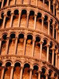 Detail of Torre Di Pisa (Leaning Tower of Pisa), Pisa, Italy Fotografie-Druck von Damien Simonis