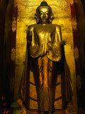 Konagamana Buddha of the Ananda Temple (Patho), Bagan, Mandalay, Myanmar (Burma) Lámina fotográfica por Anders Blomqvist
