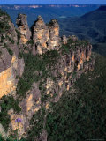 Three Sisters Rock Formation, Katoomba Blue Mountains National Park, New South Wales, Australia Photographic Print by Barnett Ross
