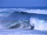 Big Surf at Papohaku Beach, Molokai, Hawaii, USA Fotografie-Druck von Karl Lehmann