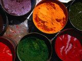 Fresh Spices for Sale at Sunday Market, Pisac, Cuzco, Peru Reproduction photographique par Mark Daffey