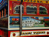Chiva Traditional Colombian Bus with Wooden Painted Body, Cartagena, Bolivar, Colombia Reproduction photographique par Krzysztof Dydynski