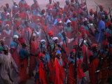 Regiment in Uniform Celebrates the Durbar Festival of Kano, Kano, Nigeria Fotografisk tryk af Jane Sweeney