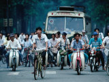 Bicycles, Buses and Motorscooters, Ho Chi Minh City, Vietnam Photographic Print by Oliver Strewe