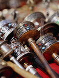 Prayer Wheels for Sale, Kathmandu, Nepal Fotografisk tryk af Ryan Fox
