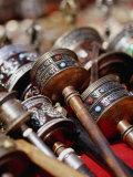Prayer Wheels for Sale, Kathmandu, Nepal Lámina fotográfica por Ryan Fox