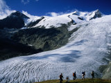 Schlaten Glacier on Grossvenediger Mountain from Alte Prager Hut, Hohe Tauren Nat. Park Austria Fotografie-Druck von Witold Skrypczak
