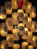 Festival Lanterns for Gion Matsuri, Kyoto, Kinki, Japan, Photographic Print by Frank Carter
