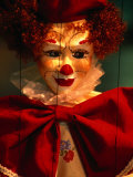 Clown-Faced Marionette in a Shop, Athens, Attica, Greece Fotografisk tryk af Izzet Keribar