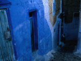 Looking Down on the Blue Alleyways of Chefchaouen, Morocco Photographic Print by Jeffrey Becom