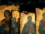 Religious Icons for Sale in Shop, Ermou, Athens, Greece Lámina fotográfica por Izzet Keribar