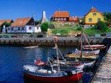 Small Village Harbour, Gudhjem, Bornholm, Denmark Reproduction photographique par Anders Blomqvist