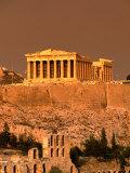 Acropolis and Parthenon from Filopappou Hill, Athens, Greece Reproduction photographique par Anders Blomqvist
