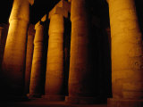 Columns in Temple of Amon-Ra, Karnak, Luxor, Egypt Photographic Print by Jane Sweeney