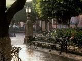 Early Morning, El Jardin, San Miguel de Allende, Mexico Fotografie-Druck von Inger Hogstrom