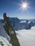 Aiguille du Midi, French Alps, Chamonix, France Reproduction photographique par Walter Bibikow