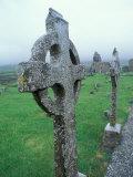 Celtic Cross Gravestone, County Clare, Ireland Reproduction photographique par Brent Bergherm
