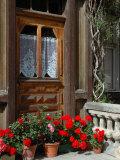 Entrance to Chalet Maria, Zermatt, Switzerland Stampa fotografica di Lisa S. Engelbrecht