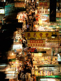 Temple Street Market, Kowloon, Hong Kong, China Photographic Print by Walter Bibikow