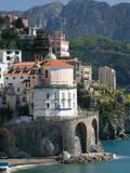 Town View from Coast Road, Amalfi, Campania, Italy Fotografie-Druck von Walter Bibikow
