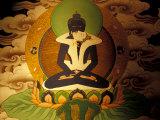 Thanka Painting, Tibet Fotografisk tryk af Vassi Koutsaftis