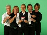 "Status Quo, Andrew Bown, Rick Parfitt, Francis Rossi, Matthew Letley and John ""Rhino"" Edwards Stampa fotografica"
