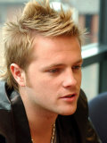 Nicky Byrne Westlife Pop Group at Daily Record Newspaper Office, September 2002 Photographic Print