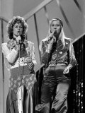 Abba, Benny Frida Bjorn and Anna, Competed in the 1974 Eurovision Song Contest Fotografisk tryk