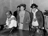 Beastie Boys American Pop Group Rap 1987, at Press Conference in Britain Fotografisk tryk