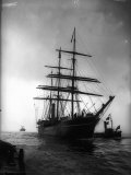 Terra Nova Ship Which was Used by Captain Scott 1910 for His Antarctic Expedition Lámina fotográfica