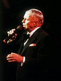 Frank Sinatra on Stage the Royal Albert Hall London Singing Fotografisk tryk