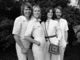 Abba Bjorn Ulvaeus, Agnetha Falstog, Fride Lyngstad and Benny Andersonon, November 1976 Fotoprint