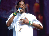 Snoop Dogg on Stage at T in the Park, T in the Park Concert, July 2005 Fotografisk tryk