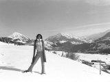 The Jackson 5, Michael Jackson Performing in Switzerland on the Slopes, February 1979 Fotografisk trykk