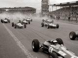 Start of the British Grand Prix at Siverstone, 1965 Reproduction photographique Premium